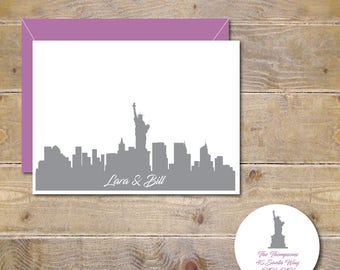 Wedding Thank You Cards, City, Silhouettes, Thank You Cards, New York City, Bridal Shower, City Weddings, Affordable Weddings, Thank Yous