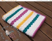 ON SALE Easy Crochet afghan pattern, baby blanket pattern, crochet throw patten, easy baby blanket pattern, crochet pattern permission to se