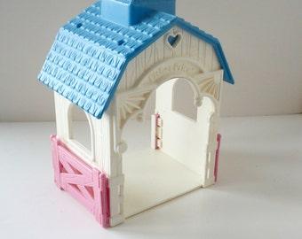Fisher Price Miniature Gazebo Barn Building  for Dollhouse Backyard