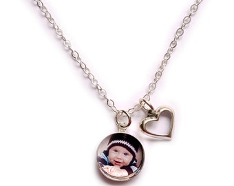 Photo Jewelry,Photo Necklace Sterling Silver, Photo Pendant, Heart Pendant, Personalized Jewelry, Photo Jewelry Heartstrings Jewels Jewelz