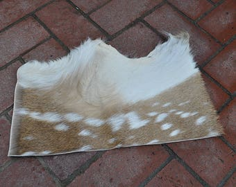 Exotic Real Beautiful Large Tanned Axis Deer Pelt Fur Scrap Piece