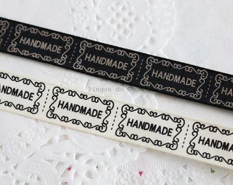 1.3 cms width - Zakka Cotton Ribbons - Handmade Label - DIY Accessory - Sewing Ribbon - Ready to Ship