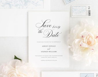 Timeless Calligraphy Save the Date - Deposit