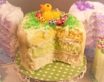 12th Scale Doll house Easter Spring Chick Cake