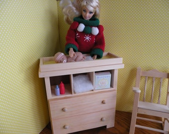 Barbie Baby Changing Table/ Table Only