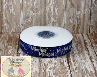 Wizardly Blue 7/8 inch Ribbon