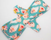 15 Inch Overnight Cloth Pad,Incontinence Pad,Postpartum Pad,Reusable Maxipad,Moderate To Heavy Flow Pad, Cotton Top With PUL Backing