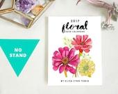 2017 Flower Art Desk Calendar (without stand)