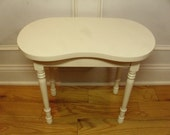 Vintage 1930's/1940's  Kidney Shaped Vanity Stool
