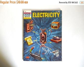 Mid Century c. 1960 Electricity How and Why Soft Cover Book with Illustrations - 48 pages