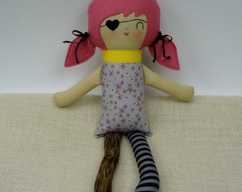Pirate Girl With Peg Leg- custom made doll, shower gift, rag doll, gift for girl,girl pirate, custom doll