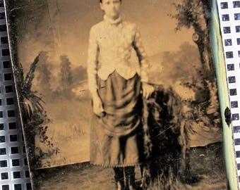 Tintype - Tall, Willowy Girl
