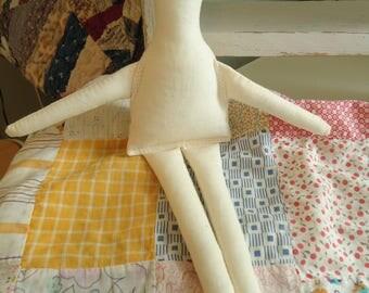 """10"""" Muslin cloth rag Doll Body -form-craft doll supply-primitive"""