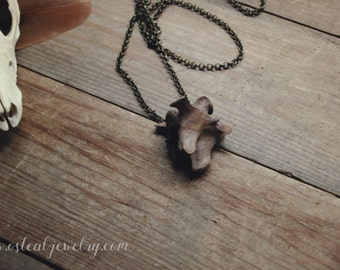 Ancient - Antiqued vertebra necklace