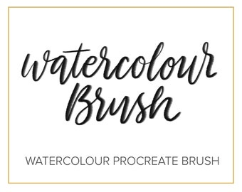 Watercolour Brush - Calligraphy Lettering Procreate Brush