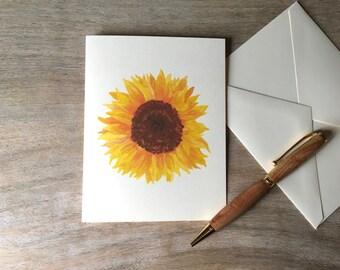 Sunflower  Note cards - Watercolor Sunflower notecards - Artist Notecards