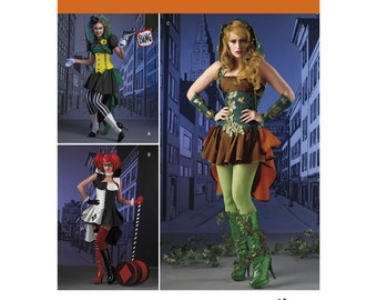 Sz 6/8/10/12/14 - Simplicity Costume Pattern 1091 by LORIANN - Misses' Super Villainess Costumes in Three Options - Loriann Costume Designs