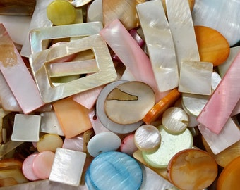 Huge Half Pound Mother of Pearl Bead Mix, MOP Beads, Mother of Pearl Bead Assortment