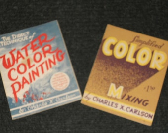 Vintage Water Color Painting/Simplified Color Mixing Books
