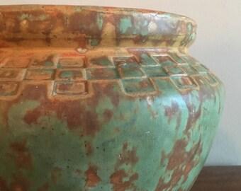 mission style burley winter large jardeniere vase