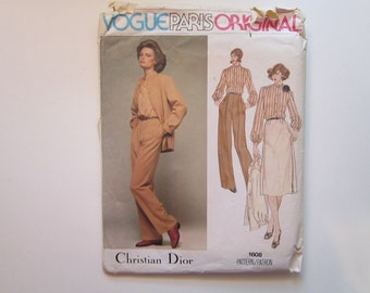 vintage Vogue pattern 1608 - Christian Dior Vogue Paris Original - dress - size 12 - vintage Vogue 1608 - factory folded