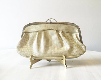 Vintage gold clutch, vintage clutch, clutch purse, retro gold purse, vintage purse, vintage evening purse, evening clutch, gold evening bag