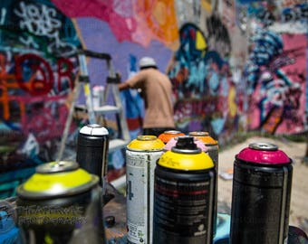 Austin Graffiti Wall III Fine Art Photographic Print