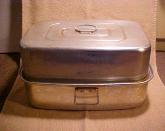 Vintage Huge Mirro Aluminum 5365M Roasting Pan w/Rack - 20+ lb. Bird Size! - USA