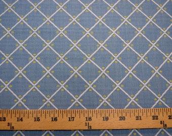 Blue Yellow Diamond Fabric