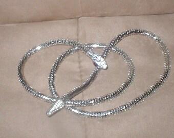 Vintage Silver Metal Mesh Snake Necklace or Belt