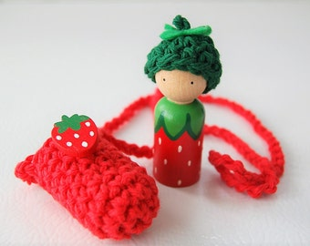 Strawberry Baby Necklace - On The Go Play - Party Favor - Easter Basket