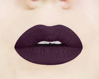 Gothic Plum Matte Liquid Lipstick. Glossy to Matte Liquid Lipstick. Dark Lipstick. Vegan and Cruelty-Free. Dark Plum Lipstick. Vampy, Gothic