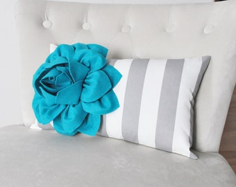 Teal Pillow, Turquoise Pillow Cover, Decorative Throw Pillow Covers, All Sizes, One, Turquoise Throw Pillow Cover, Teal Cushio
