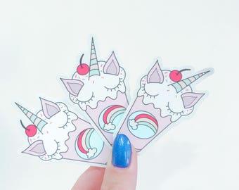Unicorn Milkshake Vinyl Sticker