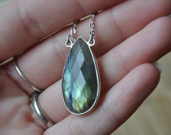Reserved Listing - Labradorite Silver Necklace