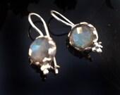 Etsy Silver earrings,Labradorite Earrings, pure 925 Sterling Silver, handmade Earrings,gemstone jewelry,birthstone earrings by Taneesi
