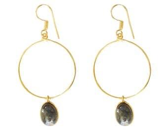 Labradorite Earrings - Minimalist Jewelry--gemstone Earrings-Healing Jewelry- gold earrings-modern diva earrings-Bezel Set earrings Taneesi