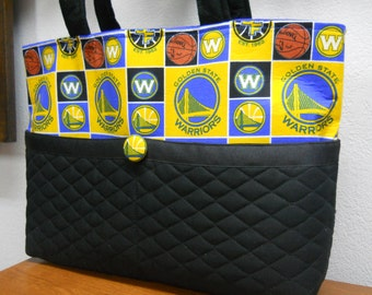 Golden State Warriors Tote Bag / SALE SALE Warriors Diaper Bag / Monogram / Embroidery INCLUDED / Golden State Bag / Basket Tote Bag