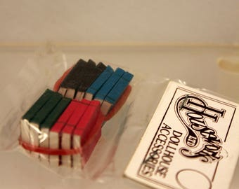 Miniature Books set 12 by Houseworks scale Dollhouse Accessory Decor