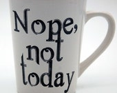 Nope not today, IPA beer glasses, set of 4