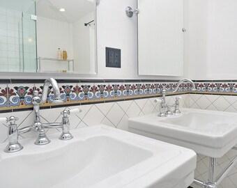 decorative handpainted ceramic tile 6x6 artichoke malibu tile design kitchen tile bathroom tile