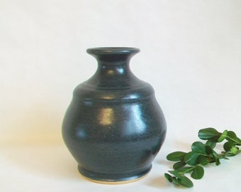 Slate  Vase -- Handmade on the Potters Wheel --