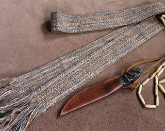 Handwoven Wool Strap or Sash For Historic Reenactment or Modern Times, Handspun Wool