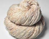 Skinned peach OOAK - Tussah Silk Fingering Yarn