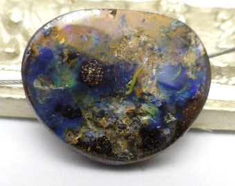 Boulder Opal Bead or Cabochon Australian Coober Pedy Freeform Handmade Designer One of a Kind Authentic Natural