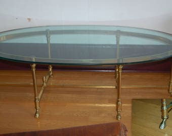 Italian French Labarge La Barge 1 2 Beveled Glass Top Coffee Table W