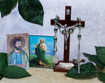 Unbreakable Traditional 9-Bead Catholic Relic Chaplet (including instructions) of St. Jude - Patron Saint of Desperate and Lost Causes