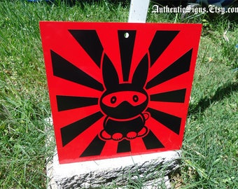 Ninja Bunny Sign Red Black