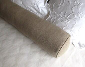 8x36 BOLSTER pillow sand beige includes insert