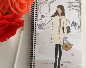 Gratitude Journal - Catching Snowflakes -Gift Ideas - Notebooks - Gifts for Women Teachers -